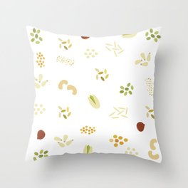 Nuts and grains Throw Pillow