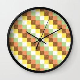 Fall cubes Wall Clock