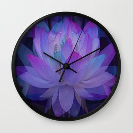 The Lotus in blue... Wall Clock