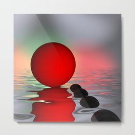 red and black on water Metal Print