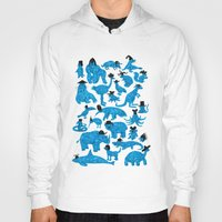 hats Hoodies featuring Blue Animals Black Hats by WanderingBert / David Creighton-Pester