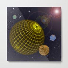 3D Planets Metal Print