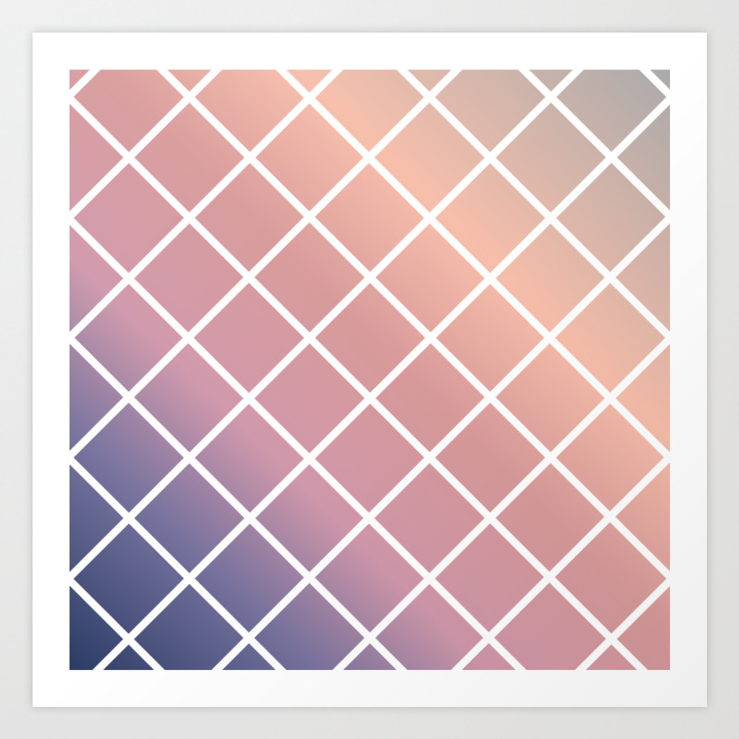 Diagonal Stripe Background In Contemporary Style Art Print