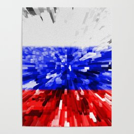 Extruded Flag of Russia Poster