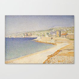 The Jetty at Cassis, Opus 198 Canvas Print