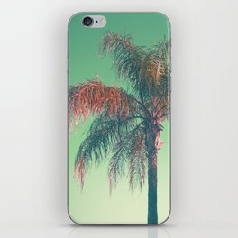 Red palm tree iPhone Skin