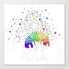 Rainbow Spring - Colors Decompressed Canvas Print