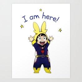 Little Deku, I am Here! Art Print