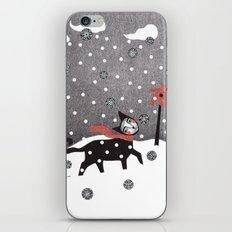 Snow Cat iPhone Skin