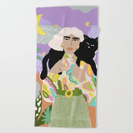 Witchy Woman Beach Towel