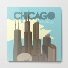 Chicago - The Windy City Metal Print
