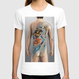 Twin gold fish T-shirt