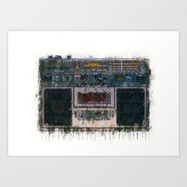 cassette recorder  - painting / illustration Art Print