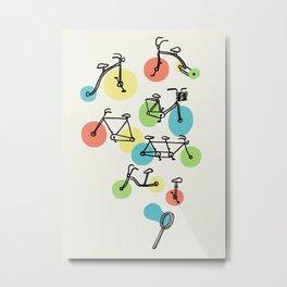 Riding Bubbles Metal Print