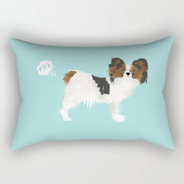 papillon farting dog cute funny dog gifts pure breed dogs Rectangular Pillow