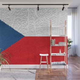 Extruded flag of the Czech Republic Wall Mural