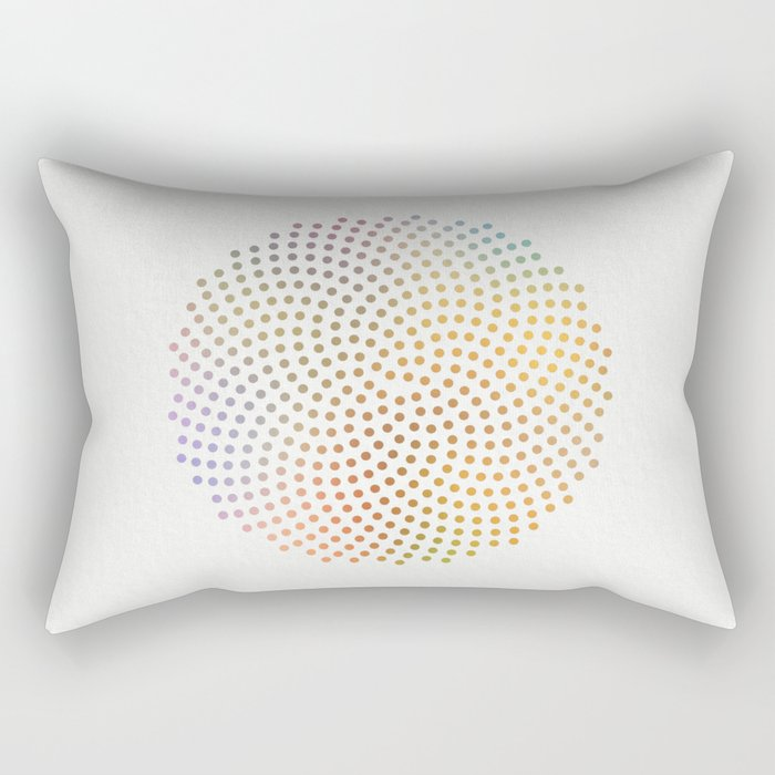 Spiral Dots Rectangular Pillow