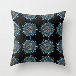 Tardis Mandala Throw Pillow