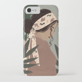 Girl in a Head Band iPhone Case
