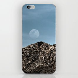 Moon over the Franklin Mountains iPhone Skin