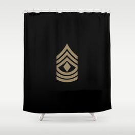 1st Sergeant (Brown) Shower Curtain