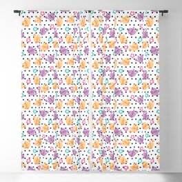 Freely Birds Flying - Fly Away Version 2 - Denim Dots Color Blackout Curtain