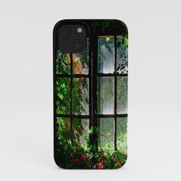 Secret garden window iPhone Case