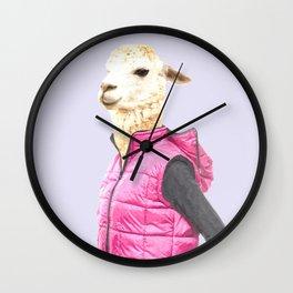Fashionable Llama Wall Clock