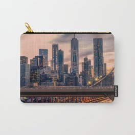 Traffic over the Brooklyn Bridge, New York City Carry-All Pouch