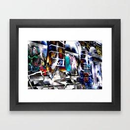 Bowery Graffiti Framed Art Print