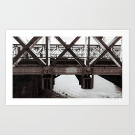 Hungerford Bridge Art Print