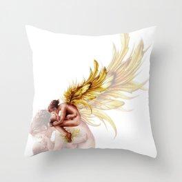 Golden Gaurdian  Throw Pillow