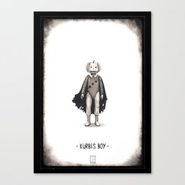 Kürbis Boy Canvas Print