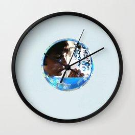 Crystals - Blue  Wall Clock
