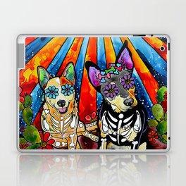 Australian Cattle Dog Sugar Skull Painting Laptop & iPad Skin