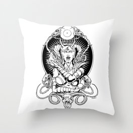Her Satanic Majesty Throw Pillow
