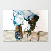 shoes Canvas Prints featuring Shoes by MardyArts