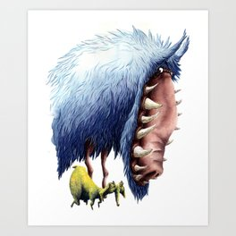 THE WOLF AND LAMB Art Print