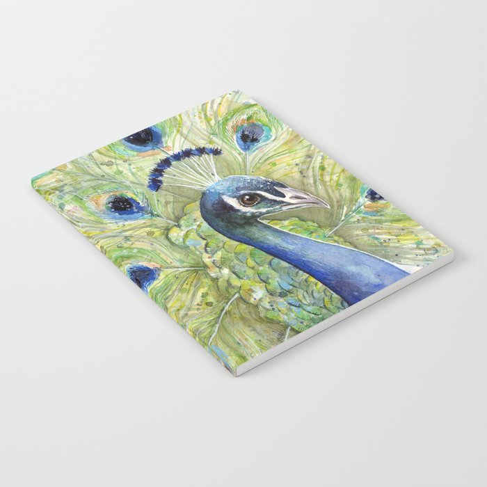 Peacock Watercolor Painting | Exotic Birds Notebook