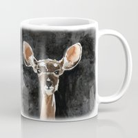 fawn Mugs featuring FAWN by Alison Sadler's Illustrations