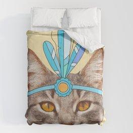 vintage cat Comforters