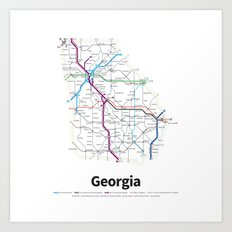 Highways of the USA – Georgia Art Print