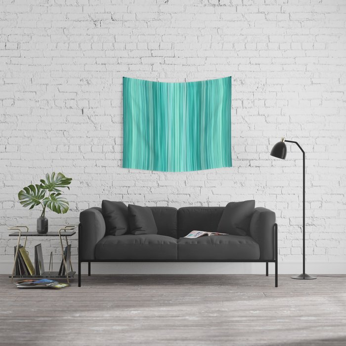 Ambient 5 in Teal Wall Tapestry