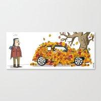 Autumn has landed. Canvas Print
