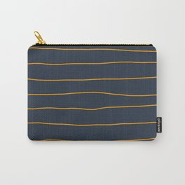 Orange Lines on Petrol Carry-All Pouch