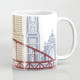 Pittsburgh V2 skyline poster Coffee Mug