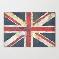 union jack Canvas Prints featuring Union Jack  by melissa lyons
