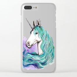 Unicorn Clear iPhone Case