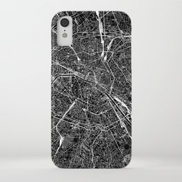 Paris Black Map iPhone Case