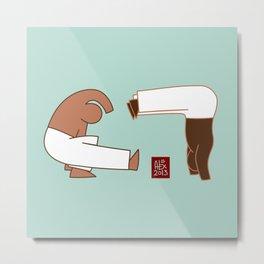 Capoeira 265 vecto Metal Print